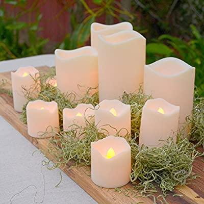 Ivory Color-Changing Assorted Resin Flameless Candles