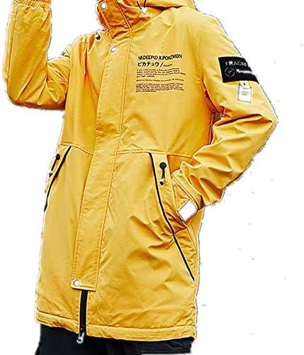Coupe-vent à capuche pour homme de longueur moyenne