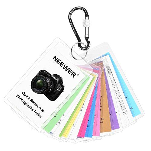Neewer Tip Card Set- Photography Guide for Canon Rebel T2 T2i T3 T3i T4 T4i T5 T5i T6 T6i T6s 6D 7D 50D 60D 70D 80D 1000D SL1 EOS M M2 M3 M10 5D 1D 1Dx Mark I II III IV MK1 MK2 MK3 MK4 DSLR Cameras
