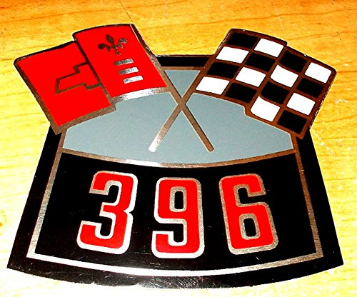 1965 1966 1967 1968 1969 CAMARO 396 CROSS FLAGS AIR CLEANER TOP LID DECAL STICKER ()