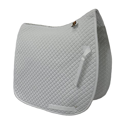 Contour Dressage Pad - ECP Cotton Quilted Dressage Pad (White)