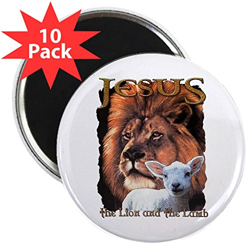 2.25 Inch Magnet (10 Pack) Jesus The Lion And The -