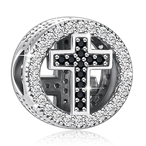 925 Sterling Silver CZ Cross Charms