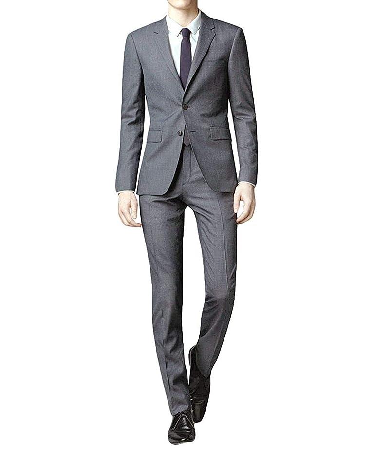 倒産放射する気分FOMANSH スーツ メンズ スリーピーススーツ スーツセットアップ ベスト付き チェック柄 スリム 1ボタン ビジネススーツ スリムスーツ 紳士服 結婚式 二次会 就職