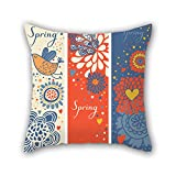 NICEPLW throw pillow case of color block 18 x 18 inches / 45 by 45 cm,best fit for wedding,kids girls,couch,girls,divan,kids room 2 sides