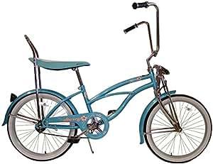Amazoncom  Girls 20quot Baby Blue Hero Beach Cruiser  Childrens Bicycles