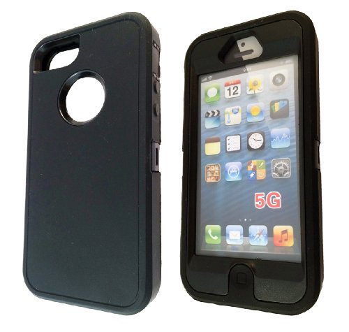 iphone 5 5S Workmen Builder Style Design Schutzhülle Defender Schlag SHock Proof Case Back Cover Silicone Rubber und Kunststoff