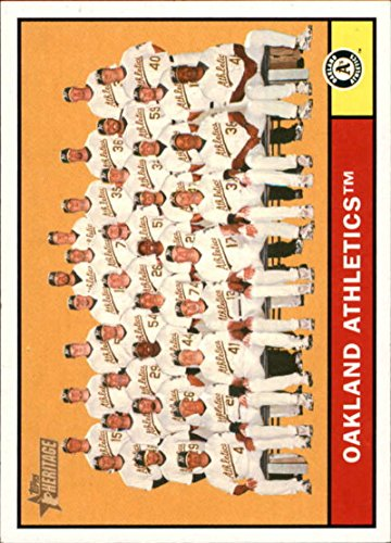 2010 Topps Heritage #297 Oakland Athletics Athletics