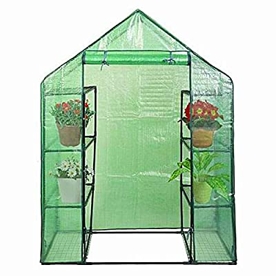 Giantex Greenhouse Outdoor Large Walk-in Plant Green House for Plants, Herb and Flower with Door and Sturdy Frame by Giantex