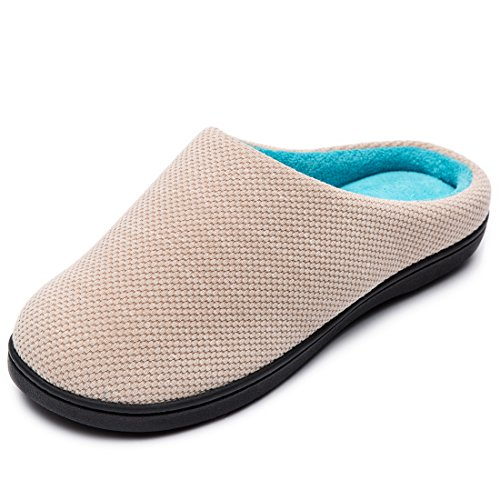 Slipper Foam Knit Memory Blue French Peach Two Women's Baby RockDove Tone Terry 8TU6xn0