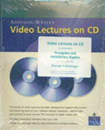 Video Lectures on CD with Optional Captioning for Prealgebra and Introductory Algebra