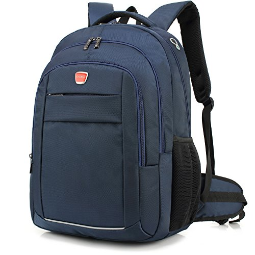 DTBG 17.3 Inches Laptop Backpack Water-resistant Professional Travel Backpack Unisex Nylon School Bookbag Rucksack Hiking Daypack For Dell/Lenonvo/ASUS/Acer/Macbook/Men/Women (Blue) For Sale