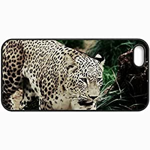 Customized Cellphone Case Back Cover For iPhone 5 5S, Protective Hardshell Case Personalized Leopard Black