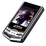 Besde 16GB Slim MP4 Music Player With 1.8'' LCD Screen FM Radio Video Games & Movie (Silver, 1pc)