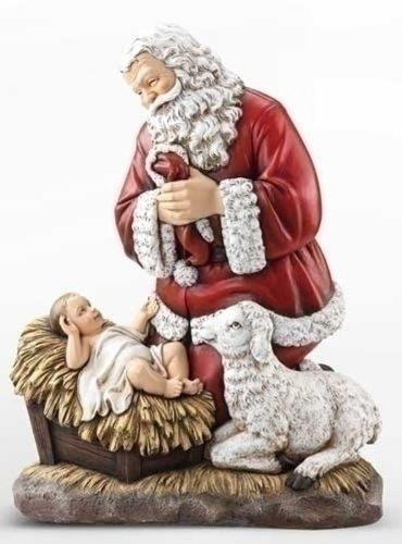 Roman Joseph's Studio Slim Profile Kneeling Santa Figurine, 24-Inch by Roman