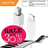 Type B MIDI Cable, Micro USB Adaptor, Interconnection Converter for MIDI Keyboard & Electronic Musical Instruments, Compatible for iPhone iPad Lightning Port, Applicable for Casio Hammer Yamaha Piano