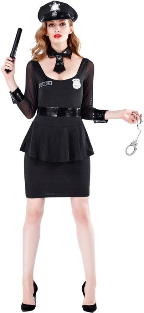 Disfraz De Policía De Halloween Disfraz De Mujer Policía De Talla Grande M-XL M: Amazon.es: Hogar