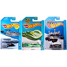 Star Trek Mars Rover & Ground FX Hot Wheels Set 2014 Planet Heroes IN PROTECTORS #71, 73 & 75