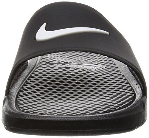 para Nike Benassi y de negro ducha piscina de hombres Tobogán playa negro blanco sandalias THEqSHzwx