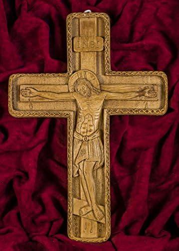 Byzantine Wall Cross Hand-Carved Aromatic Greek Russian Christian Orthodox Crucifix Made