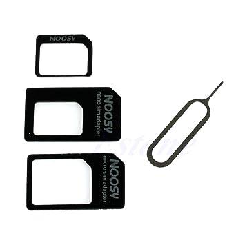 certylu Adaptador 3 en 1 Nano Micro a Tarjeta SIM estándar ...