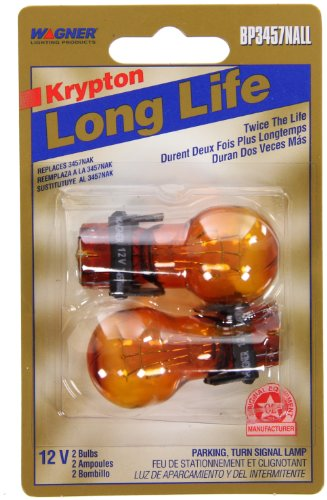 Wagner Lighting BP3457NALL Long Life Natural Amber Miniature Bulb - Card of ()