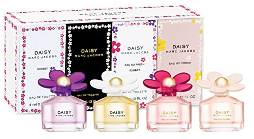 (Marc Jacobs Daisy Fragrances Mini Gift Set .13 oz. Daisy, Sorbet, Eau So Fresh, Eau So Fresh Sorbet)