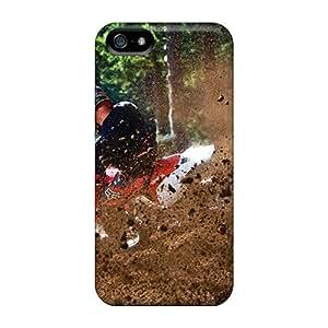New Sport Motocross Tpu Case Cover, Anti-scratch Jamesdd Phone Case For Iphone 5/5s
