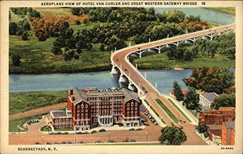 Hotel Van Curler and Great Western Gateway Bridge Schenectady, New York Original Vintage - Bridge Great Of Vans