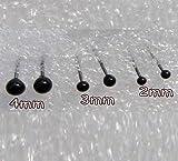 WellieSTR 150 Pair Glass Eyes kits 2/3/4mm Assortment For Needle Felting Bears Dolls Decoys Sewing