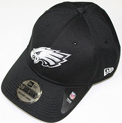 New Era Philadelphia Eagles 39THIRTY Black & White Neo Performance Flex Fit Hat