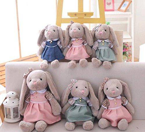 Toy Cute Blue AU Stuffed Baby Plush YingBo Toy 40cm Gift Animal Toy Soft Simulation Plush Dress Toy Baby Rabbit Cute Long Navy O5wqd1d