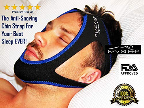 Anti Snoring Chin Strap Most Effective Stop snoring Solution by EzySleep - a Premium Adjustable Anti snoring Device for Men, Women and Children That Gives The Best Sleep Ever!