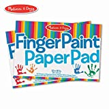 Melissa & Doug Finger-Paint Paper Pad 2-Pack (Arts & Crafts, Top-Bound Pads, Glossy Paper, Nonabsorbent, 50 Sheets Each, 17' H x 12' W x 0.25' L)