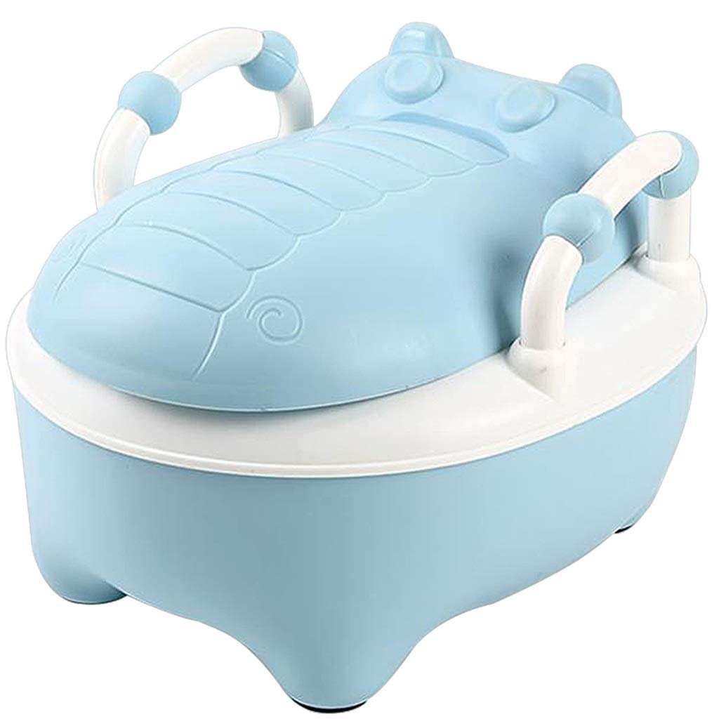 XWJC Children's Toilet Child Urinal Cartoon Large Drawer Baby Toilet Male and Female Baby Toilet (Color : Blue)