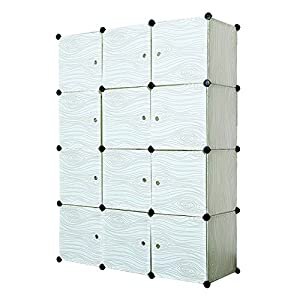 12 Cube Closet Organizer,Storage Cabinet Garage Storage Racks Sets, Shelf Cabinet, Panels and Units for Books, Plants, Toys, Shoes, Clothes, for Bedroom & Living Room (Light Green)