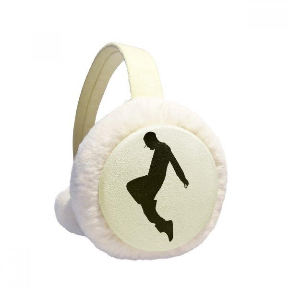 Jumping Dancer Hip Hop Sports Winter Earmuffs Ear Warmers Faux Fur Foldable Plush Outdoor Gift