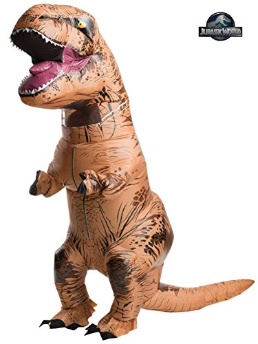 Jurassic World Park ADULT SIZE Inflatable T-Rex Dinosaur Blowup Costume