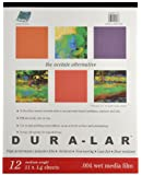 Grafix Wet Media .004 Dura-Lar Film, 11-Inch by 14-Inch, 12 Sheets
