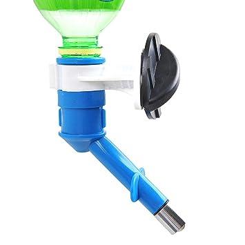 Hilai Pet Agua alimentador Botella contenedor dispensador Perro Agua Potable Herramientas Perro Potable Kit Colgante Agua dispensador Azul 1pc: Amazon.es: ...