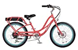 "Pedego Comfort Cruiser 24"" Coral with Black Balloon Package 36V 10Ah"
