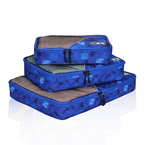 Hynes Eagle Travel Packing Cubes 3 Pieces Value Set Blue Figure