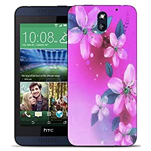 New Hard Printed BEAU ARTS Cover for HTC Desire 610 case - pink floral gathering & Stylus by ruishername