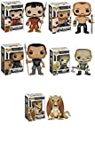 Funko Game of Thrones Oberyn Martell, The Mountain, Grey Worm, Wight and 6'' Viserion Series 5 Pop! Vinyl Figures Set of 5