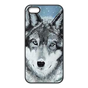 ALICASE Diy Customized Hard Case Wolf Howling for iPhone 5,5S [Pattern-2]