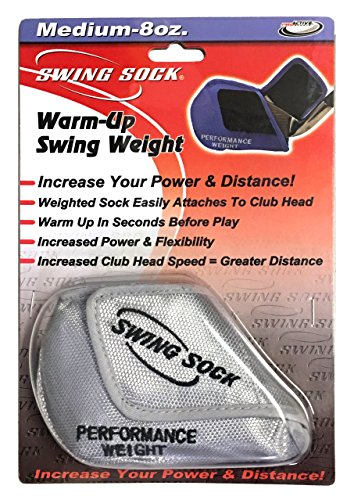 Swing Sock 8 oz. Weighted Golf Warm-Up/Trainer Attaches to Club Head (Fits Irons Only) - Warm Up Club