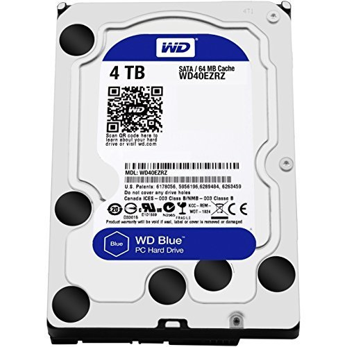 WD Blue 4TB PC Hard Drive - 5400 RPM Class, SATA 6 Gb/s, 64