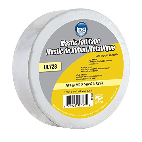 Intertape Polymer Group MF2100 Silver ALF Butyl Mastic Foil Tape, 1.88' × 100'