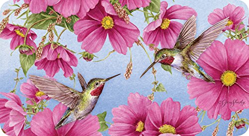Hummingbird Floor Mat (Toland Home Garden Hummingbirds with Pink 20 x 38 Inch Decorative Bird Flower Anti Fatigue Comfort Mat)