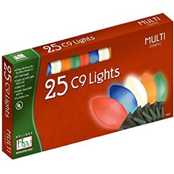 amazoncom holiday wonderland 2924 88 christmas lights set multi color ceramic 25 count c9 home improvement - Christmas Lights Amazon